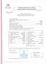 Certificado de Conformidad Europeo Citroen