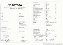 Certificado de Conformidad Toyota