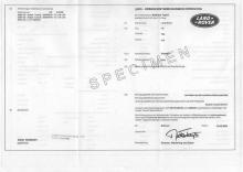 Certificado de Conformidad Europeo Land rover
