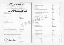 Certificado de Conformidad Europeo lexus