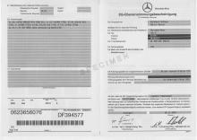 Certificado de Conformidad mercedes
