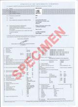 Certificado de Conformidad Europeo Peugeot